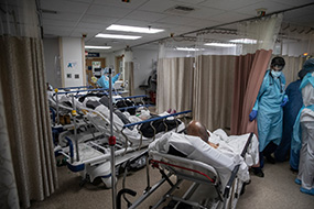 Hospitals overwhelmed with covid-19 patients